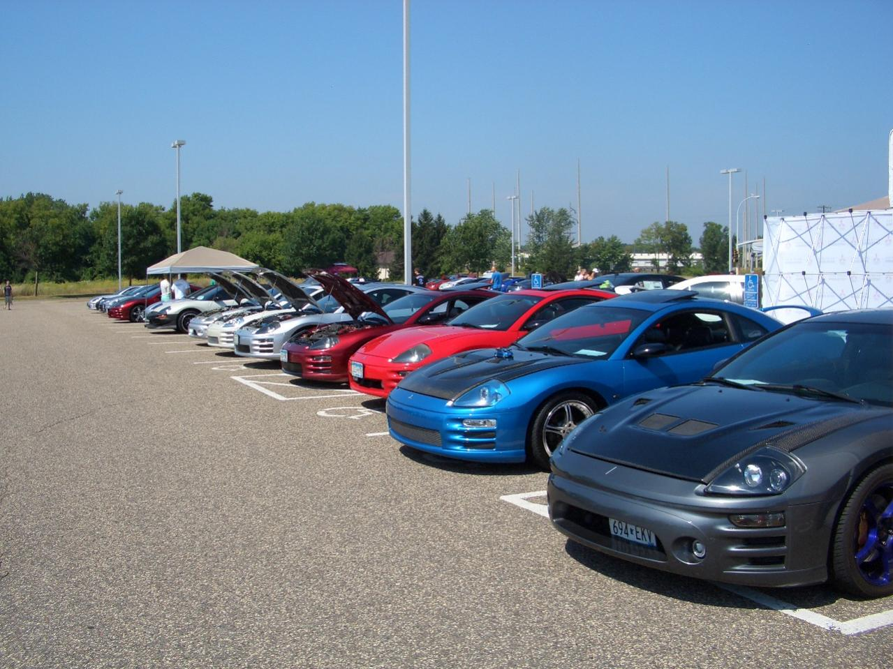 All Mitsubishi Cookout and Car Show -- August 25th, 2013 -- Rogers, MN-3g-line-up-cookout-2013.jpg