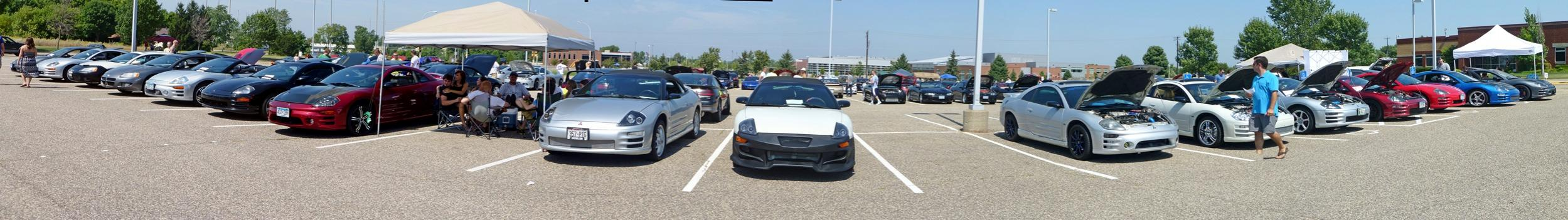 All Mitsubishi Cookout and Car Show -- August 25th, 2013 -- Rogers, MN-p1010291_stitch1.jpg